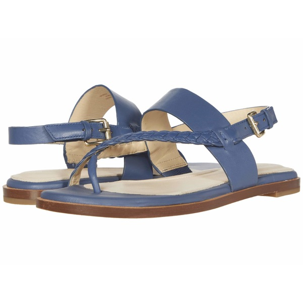 コールハーン レディース サンダル シューズ G.OS Anica Thong Sandal Vintage Indigo Leather Gold
