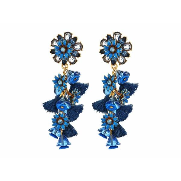 ジェイクルー レディース ピアス&イヤリング アクセサリー Bloom Flower Statement Earrings Prussian Blue