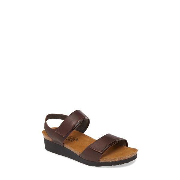 ナオト レディース サンダル シューズ Aisha Wedge Sandal Soft Brown/ Walnut Leather