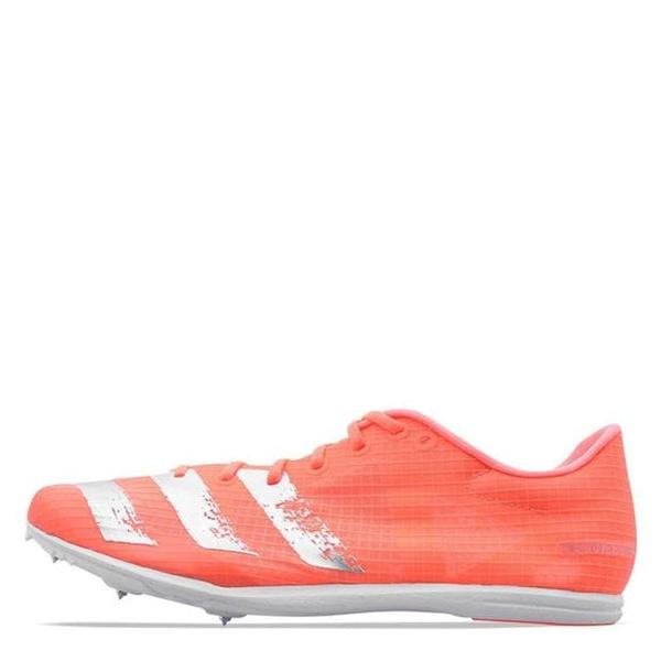アディダス メンズ ランニング スポーツ Distancestar Mens Running Spikes Coral/Silver