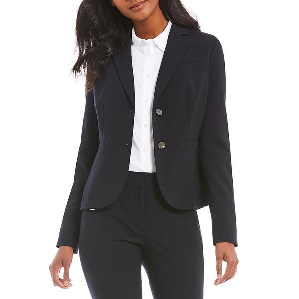 カルバンクライン レディース ジャケット&ブルゾン アウター Two-Button Suit Jacket Navy