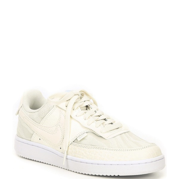 ナイキ レディース スニーカー シューズ Women's Court Vision Lo PRM Leather Lifestyle Shoes Sail/White/Aura/Sail