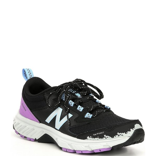 ニューバランス レディース スニーカー シューズ Women's 510 V5 Running Shoes Black/Light Aluminum/Neo Violet/Team Carolina