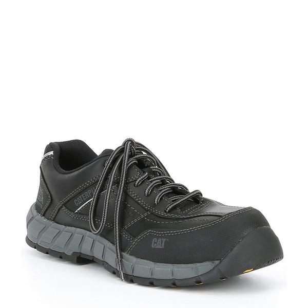 キャットフットウェア メンズ ブーツ&レインブーツ シューズ Men's Streamline Composite Toe Work Shoe Black