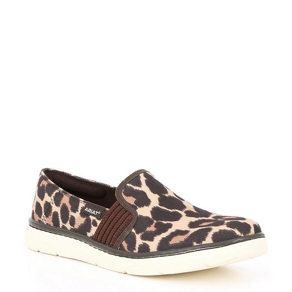 アリアト レディース スニーカー シューズ Ryder Leopard Print Fabric Slip On Shoes Leopard Print