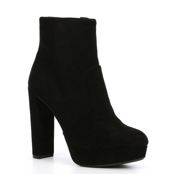 ジアーニビニ レディース ブーツ&レインブーツ シューズ Kianne Suede Platform Block Heel Booties Black