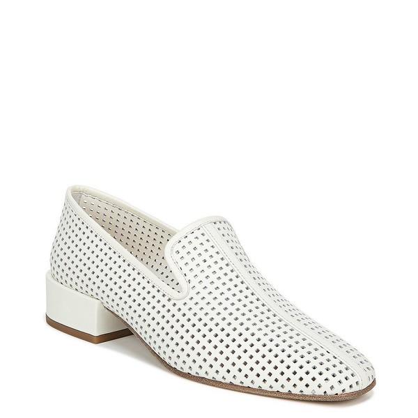 ヴィアスピガ レディース サンダル シューズ Baudelaire Perforated Leather Block Heel Loafers Milk