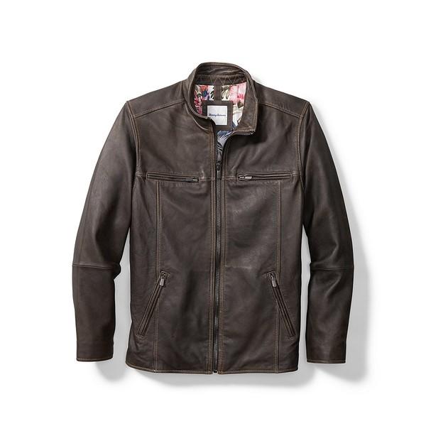 トッミーバハマ メンズ ジャケット&ブルゾン アウター Rocker Highway Leather Jacket Black
