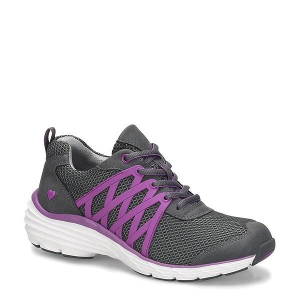 ナースメイト レディース スニーカー シューズ Brin 3D Mesh Sneakers Grey/Purple