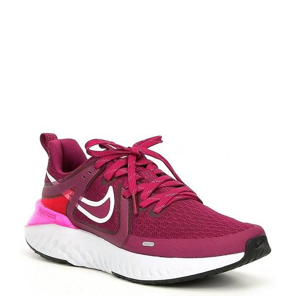 ナイキ レディース スニーカー シューズ Women's Legend React 2 Running Shoes True Berry/Pink Blast/Black/Vast Grey