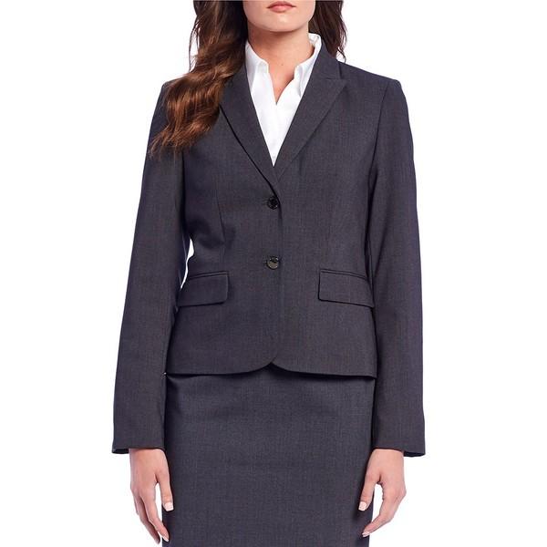 カルバンクライン レディース ジャケット&ブルゾン アウター Notch-Collar Jacket Charcoal