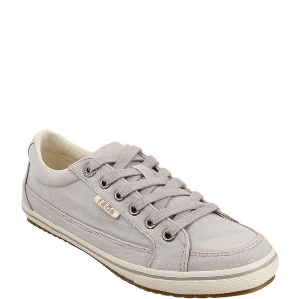 タオスフットウェア レディース スニーカー シューズ Moc Star Washed Canvas Sneakers Light Grey Distressed