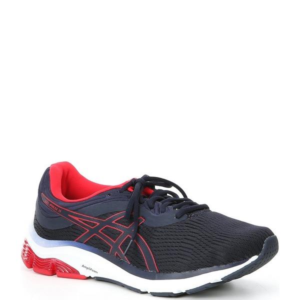 アシックス メンズ スニーカー シューズ Men's GEL-Pulse 11 Mesh Running Shoes Midnight/Speed Red