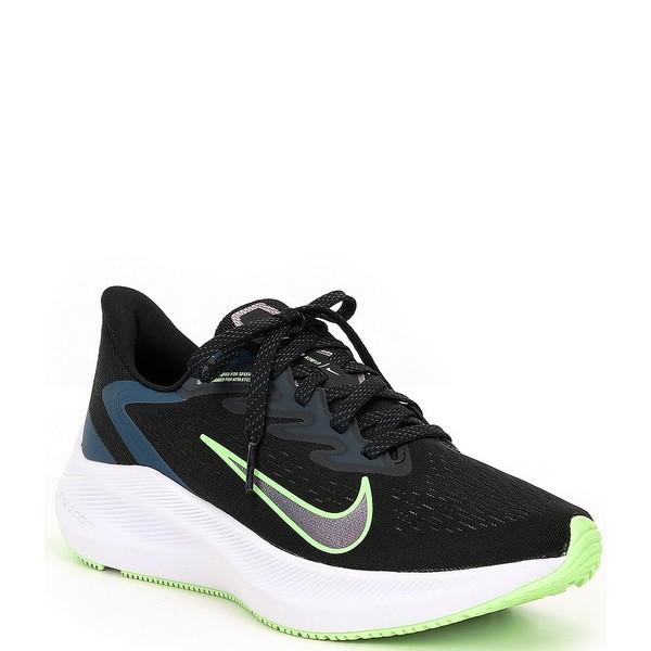 ナイキ レディース スニーカー シューズ Women's Zoom Winflo 7 Running Shoes Black/Valerian Blue/Vapor Green