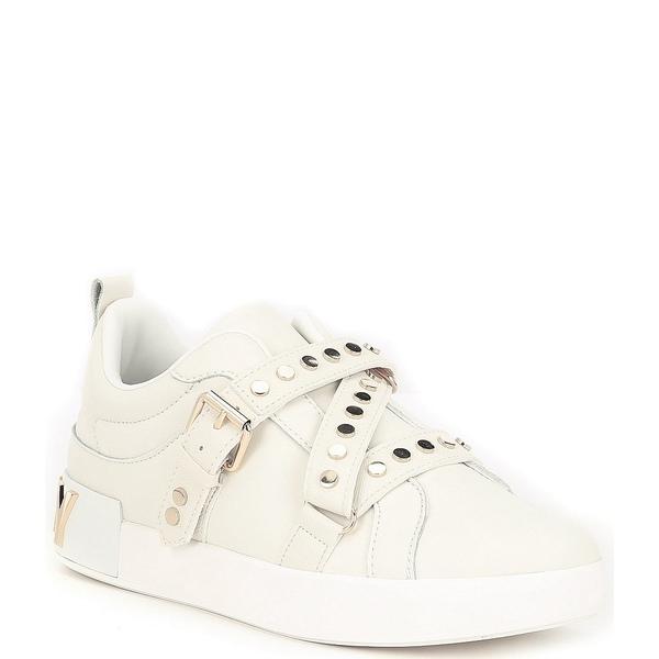 ダナ キャラン ニューヨーク レディース スニーカー シューズ Studz Leather Studded Sneakers White