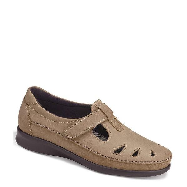 エスエーエス レディース サンダル シューズ Roamer Leather Flat Loafers Sage