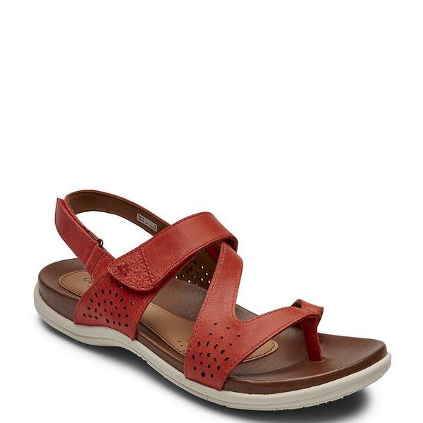 ロックポート レディース サンダル シューズ Cobb Hill Rubey Leather Thong Sling Sandals Red