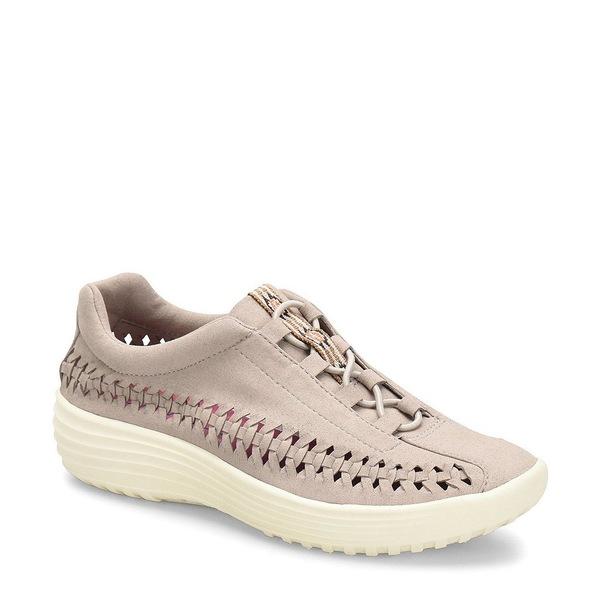 ビオニカ レディース スニーカー シューズ Marea Woven Microsuede Sneakers Mist Grey