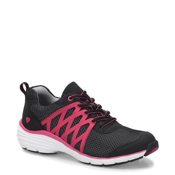 ナースメイト レディース スニーカー シューズ Brin 3D Mesh Sneakers Black/Pink