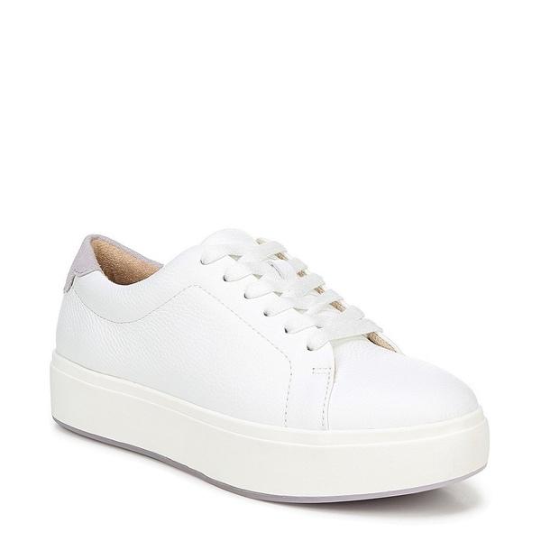 ドクターショール レディース スニーカー シューズ Abbot Laced Leather Flatform Sneakers White