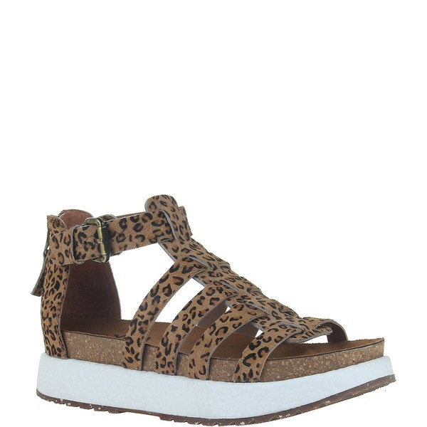 オーティービーティー レディース サンダル シューズ Carbon Cheetah Print Haircalf Gladiator Platform Sandals Cheetah Print
