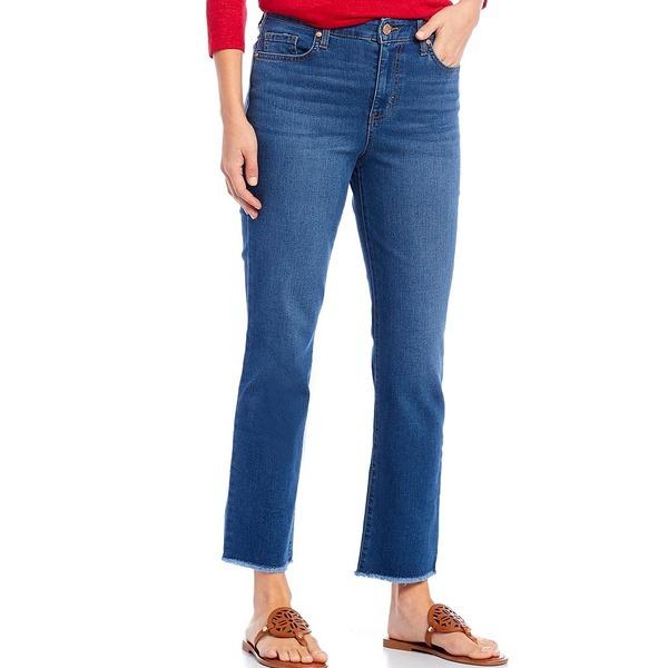 コードブリュー レディース デニムパンツ ボトムス Classic Straight Leg Frayed Hem Ankle Jeans Lien