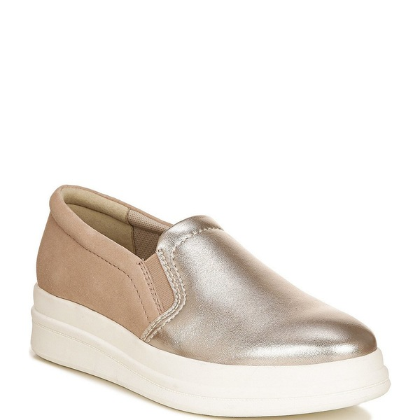 ナチュライザー レディース スニーカー シューズ Yardley Leather and Suede Slip On Wedge Sneakers Light Bronze