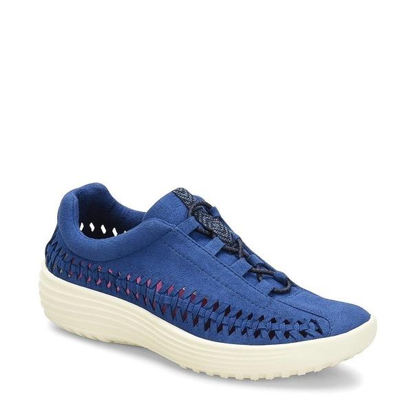 ビオニカ レディース スニーカー シューズ Marea Woven Microsuede Sneakers Ink Blue