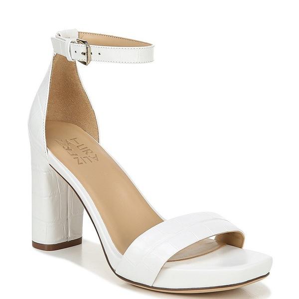 ナチュライザー レディース サンダル シューズ Joy Croc Embossed Leather Ankle Strap Dress Sandals White Croco