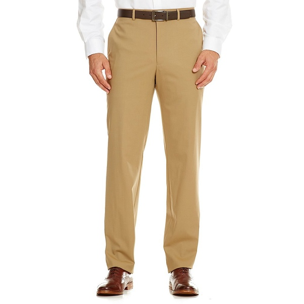 ハートシャファネールマークス メンズ ボトムス カジュアルパンツ Tan 新品未使用 直輸入品激安 全商品無料サイズ交換 New Modern York Flat-Front Dress Pants Tailored Fit