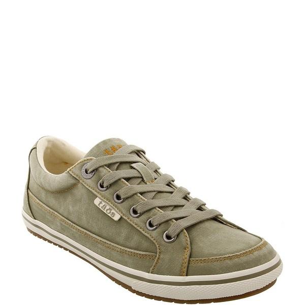 タオスフットウェア レディース スニーカー シューズ Moc Star Washed Canvas Sneakers Sage Distressed