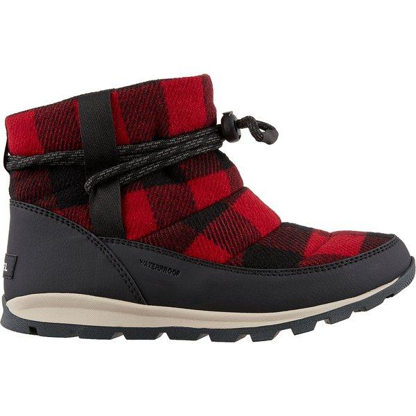 ソレル レディース ブーツ&レインブーツ シューズ SOREL Women's Whitney Short Plaid 200g Waterproof Winter Boots RedDahlia