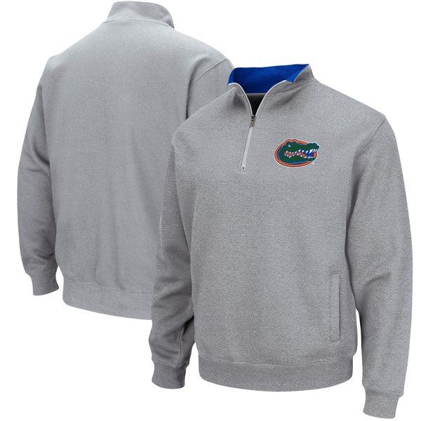 コロシアム メンズ ジャケット&ブルゾン アウター Florida Gators Colosseum Tortugas Logo QuarterZip Pullover Jacket White