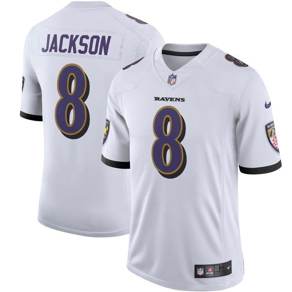 ナイキ メンズ ユニフォーム トップス Lamar Jackson Baltimore Ravens Nike Vapor Limited Jersey White