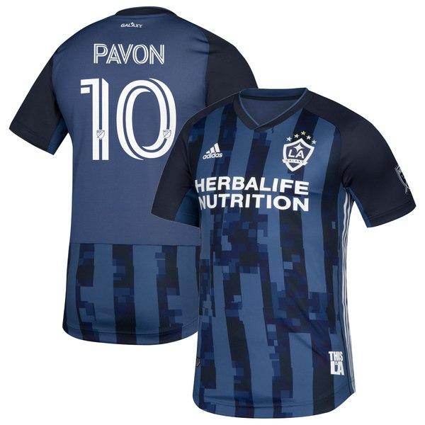 アディダス メンズ ユニフォーム トップス Cristian Pavn LA Galaxy adidas 2020 Secondary Authentic Player Jersey Navy
