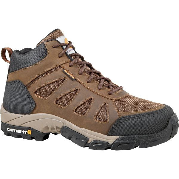 カーハート メンズ ブーツ&レインブーツ シューズ Carhartt Men's Lightweight Mid Hiker Waterproof Composite Toe Work Boots DarkBrown