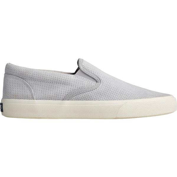 トップサイダー メンズ スニーカー シューズ Sperry Men's Striper Plushwave Slip On Casual Shoes Grey