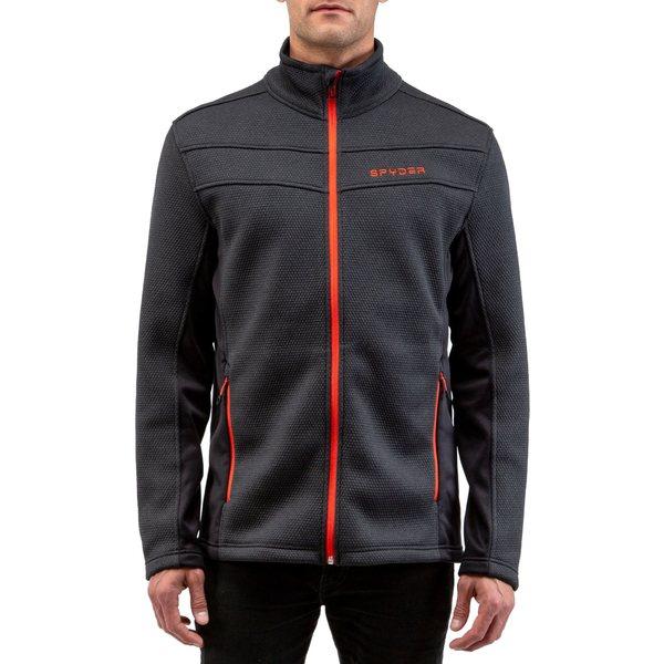 スパイダー メンズ ジャケット&ブルゾン アウター Spyder Men's Encore Full Zip Fleece Jacket Black