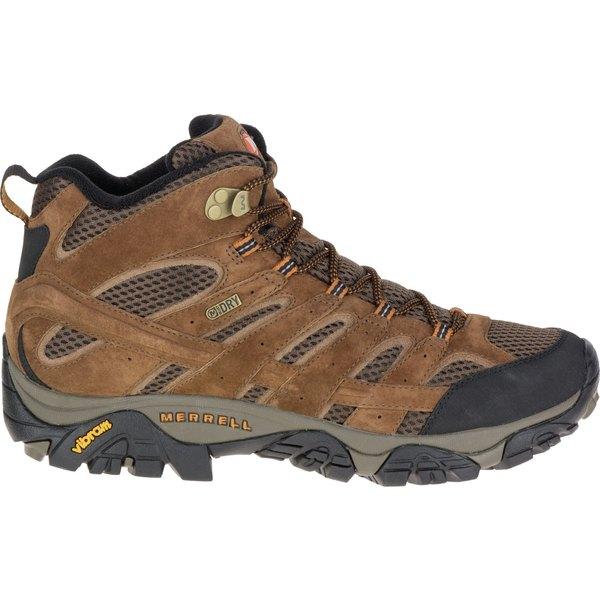 メレル メンズ ブーツ&レインブーツ シューズ Merrell Men's Moab 2 Mid Waterproof Hiking Boots Earth