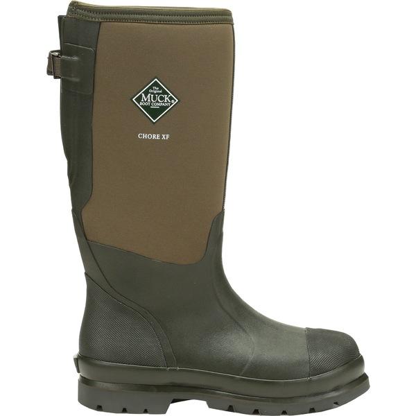 ムックブーツ メンズ ブーツ&レインブーツ シューズ Muck Boots Men's Chore Classic Tall Gusset Waterproof Work Boots Moss