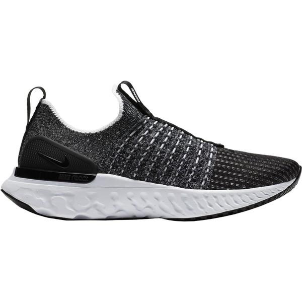 ナイキ レディース ランニング スポーツ Nike Women's React Phantom Run Flyknit 2 Running Shoes Black/Black/White