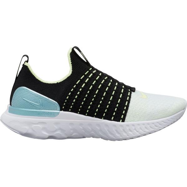 ナイキ レディース ランニング スポーツ Nike Women's React Phantom Run Flyknit 2 Running Shoes Black/Volt