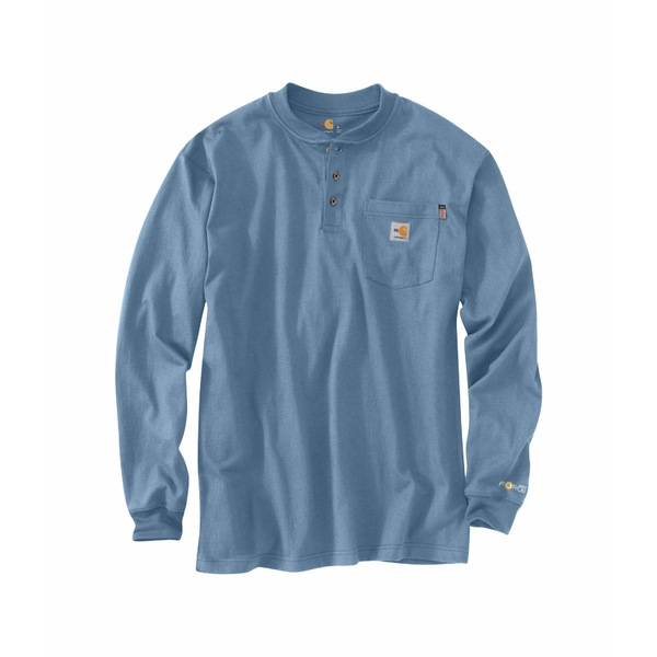 カーハート メンズ シャツ トップス Big & Tall Flame-Resistant Force Cotton Long Sleeve T-Shirt Medium Blue