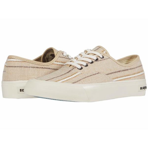 シービーズ メンズ スニーカー シューズ Legend Sneaker Raffia Stripe Natural