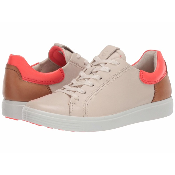 エコー レディース スニーカー シューズ Soft 7 Street Sneaker Vanilla/Coral Neon/Lion Cow Leather/Cow Leather/Cow Nubuck