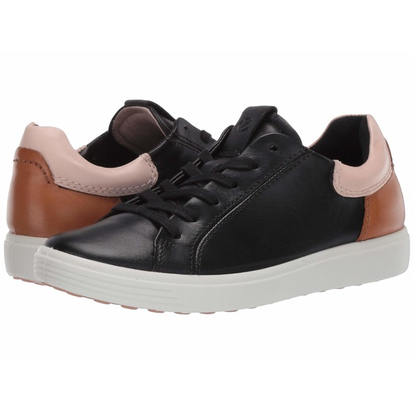 エコー レディース スニーカー シューズ Soft 7 Street Sneaker Black/Rose Dust/Lion Cow Leather/Cow Leather/Cow Nubuck