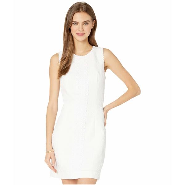 リリーピュリッツァー レディース ワンピース トップス Mila Stretch Shift Dress Resort White Turtle Pucker Jacquard
