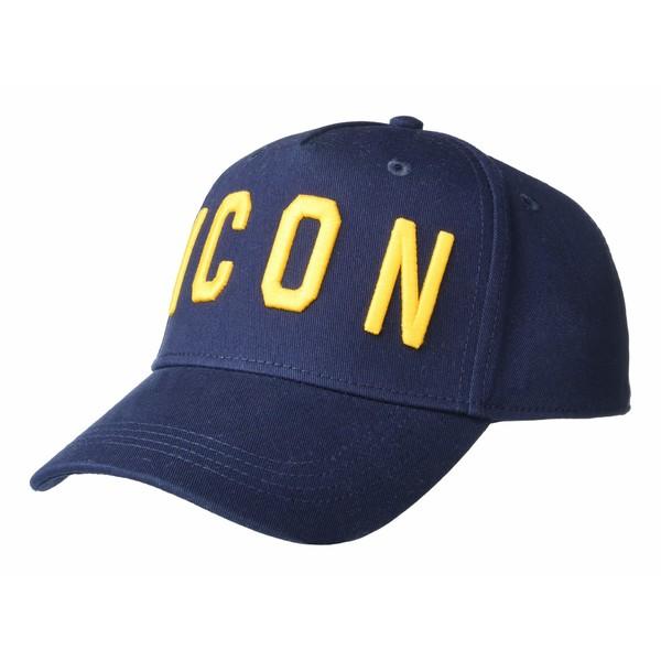 ディースクエアード メンズ 帽子 アクセサリー Icon Corduroy Baseball Cap Navy/Ocra