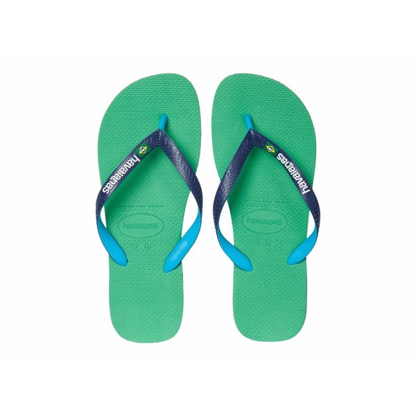 ハワイアナス メンズ サンダル シューズ Brazil Mix Flip Flops Leaf Green
