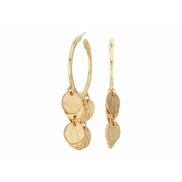 ケネスジェイレーン レディース ピアス&イヤリング アクセサリー Pierced Hoop with Coin Drops Gold